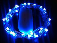 20 LED BLUE CR2032 Battery String Light 2m long SW - UK Seller/Stock