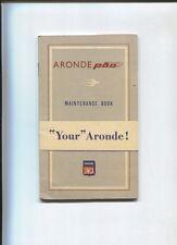 SIMCA Aronde P60 maintenance book english text   september 1958