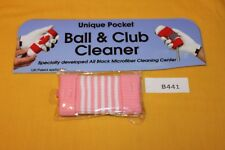 Green Sleeve Golf Ball and Iron Club Cleaner (Pink and White) B441 New