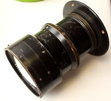 """Military bronze lens aerial photo """"F-3"""", (""""OF-41"""") 4,5/400, 1937 GOMZ 1942 USSR"""