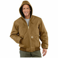 Carhartt Men's Quilted Duck Active Jacket in Carhartt Brown  Size 2XL Tall H1103