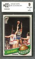 1979-80 topps #31 ALEX ENGLISH indiana pacers rookie card (CENTERED) BGS BCCG 9