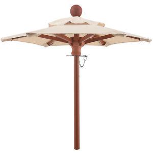 anndora Mini Tisch Sonnenschirm Deko Schirm 100 cm rund + Winddach dark Natural