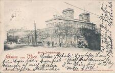 Wien IX: Wien Franz Josefsbahnhof 1900 Bahnhof, Fuhrwerk, Salvenmoser usw..