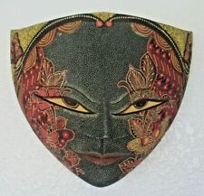Batik Mask Butterfly Carved Wood Java Bali Indonesia 9 x 11 US Seller Fair Trade