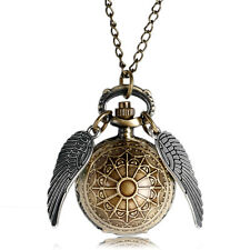 Harry Potter Quidditch Pocket Watch Ball Shape Wing Web Necklace Chain Xmas Gift