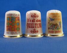 Birchcroft Thimbles -- Set of Three -- Quilting ( Make Offer )