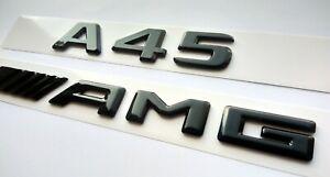 Mercedes A45 AMG flache schwarz glänzend Schriftzug-Embleme
