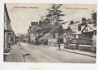 High Street Amesbury Wiltshire 1915 Postcard Fuller 698b
