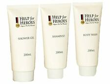 Help for Heroes 200ml x3 Shower Gel Body Wash Shampoo Bag Gift Set
