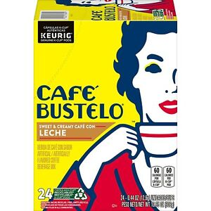 Cafe Bustelo Sweet & Creamy Cafe Con Leche 24 to 144 K cups Pick Any Size