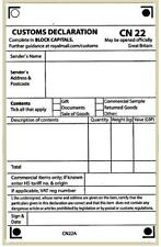 More details for 50 self adhesive custom declaration forms label cn22 for international post