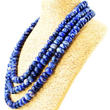 1110.00 Cts Natural 3 Strand Blue Sodalite Round Shape Beads Necklace NK 43E126