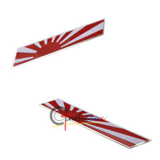 1X Japanese Rising Sun Flag Stripe Aluminum Emblem Badge Car Front Grille Fender
