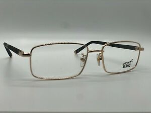 Mont Blanc Eyeglasses MB 396 028 Gold Men Brown Brand New MB396 55mm 17mm 140mm