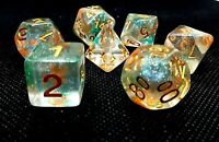 RPG 7 teilig Würfel Set Poly DND  dice4friends Warhammer Rollenspiel Tabletop