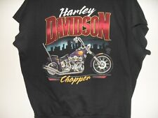 Vintage 1980's Harley Davidson Short Sleeve Sweat Shirt Chopper Speed Limit 70 2
