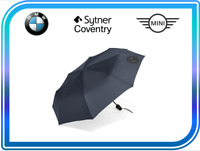 BMW Genuine Retractable Pocket Folding Polyester Umbrella Dark Blue 80232454630
