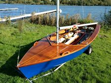 Enterprise Sailing Dinghy No 21639 with road trailer and launching trolley