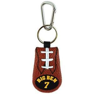 Pittsburgh Steelers Big Ben Leather Football Keychain [New] Key Chain Jewelry