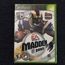 MADDEN NFL 2003 XBOX (Rare Find, 3pics) =NEW