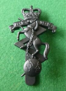 British Army Blackened Cap Badge, Royal Electrical & Mechanical Engineers - REME