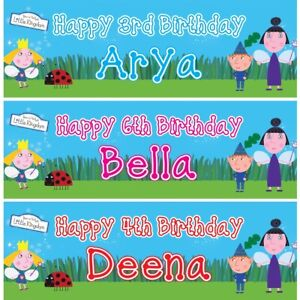 2 Personalised Ben and Holly Birthday Celebration Decoration Banners Posters