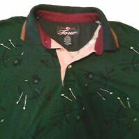 Duck Head Tour Shirt. Size Men's Medium. Golf Motif Design. Good Condition.
