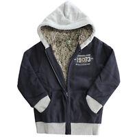 Timberland Full Zip Boys Youths Kids Hooded Navy Jacket Hoody T0169 408 R11G