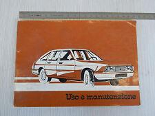 MANUALE USO MANUTENZIONE ORIGINALE SIMCA 1307 GT GLS S