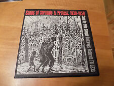 Songs Of Struggle & Protest 1930-50 - Pete Seeger 33 RPM LP