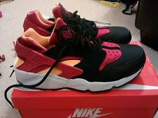 Nike Air Huarache black/hyper Fuch-lsr orange/white Men's  Sizes UK 9.5