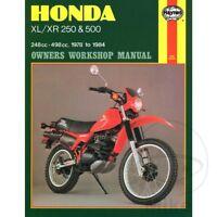 Honda XL 250 R 1982 Haynes Service Repair Manual 0567