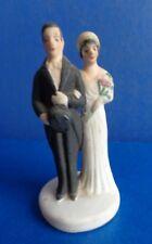 VINTAGE BISQUE BRIDE & GROOM CAKE TOPPER- JAPAN- MID CENTURY