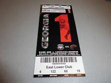Louisiana-Monroe Warhawks vs Georgia Bulldogs 9-5-2015 Football Game Ticket Stub
