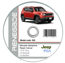 Jeep Renegade 2014-2018 manuale officina workshop manual on cd