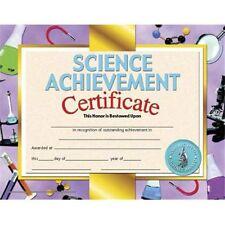 Hayes School Publishing - Science Achievement Certificates 8.5x11 Inkjet/Laser