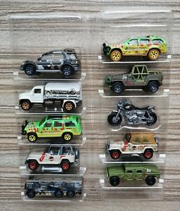 Matchbox Jurassic World Loose - Ford Explorer, Jeep Wrangler, Ingen 4X4, Humvee