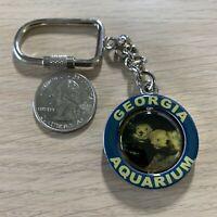 Georgia Aquarium Whale Travel Souvenir Spinner Keychain Key Ring #37969