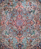 Gorgeous Vintage Chinese Hand Made Silk Rug 2x3.5'