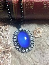 Mood Stone Retro CHANGE COLOR JEWELRY 70'S ROCKABILLY PENDANT MOONSTONE Necklace