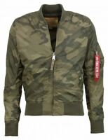 Alpha Industry Men's Summer Jacket MA-1 TT Olive Camo