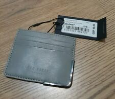 New Official TED BAKER LONDON Grey Leather Money Card Wallet Holder *RRP £40!*