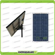 Kit solare fotovoltaico pannello 100W + testapalo diametro max  60mm inclinazion