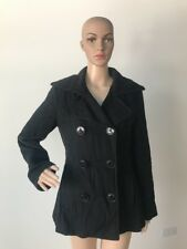 15fa981969bf6 Kristen Blake Petite Black Wool Pea Coat Double Breasted Jacket Ladies S    2 P