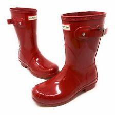 HUNTER Short Rain Boots Rubber Red Gloss MIXED SIZE PAIR Womens 5, 6 US 3, 4 UK