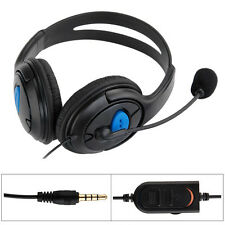 Wired Gaming Headset Headphone w/ Microphone Mic Chat for Sony Playstation 4 PS4