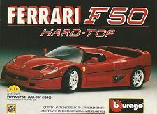 X1252 FERRARI F50 HARD TOP (1995) - BBURAGO - Pubblicità 1995 - Advertising