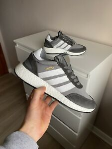 Brand New Adidas Iniki Runner Boost Uk 8.5 Grey White