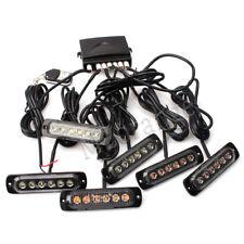 6X 6 LED Green White Strobe Flashing Warning Light Lamp Wireless Remote 12V-36V